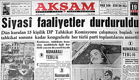 BİR DEMOKRASİ ABİDESİ OLARAK TAHKİKAT KOMİSYONU ÖRNEĞİ!