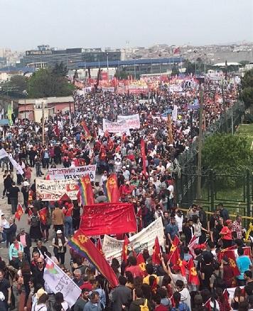 İstanbul'da Kitlesel 1 Mayıs