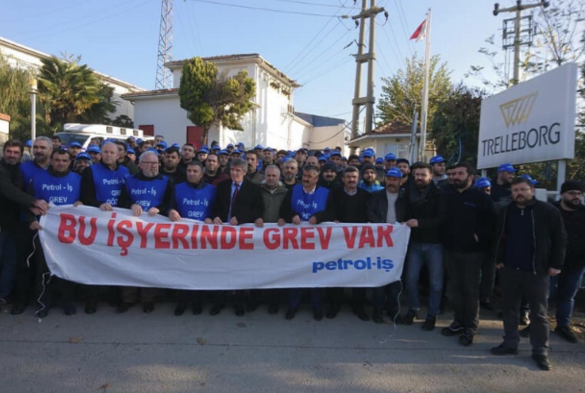 Trelleborg'da Grev İşçilerin Kazanımıyla Sona Erdi!