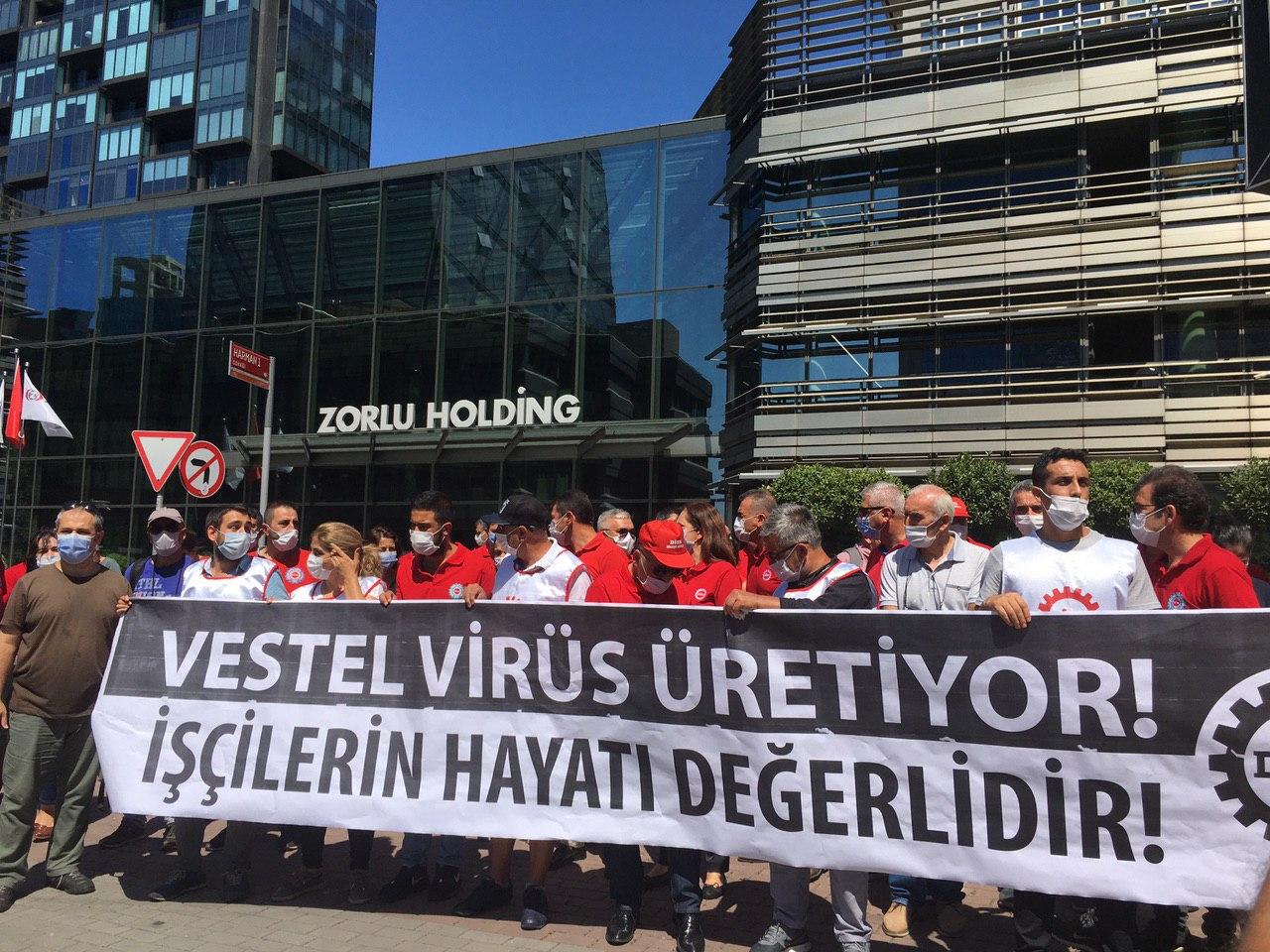 Vestel'deki İşçi Ölümleri Protesto Edildi